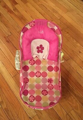 Summer Infant Deluxe Baby Bather, Folding First Bath Tub Newborn Pink