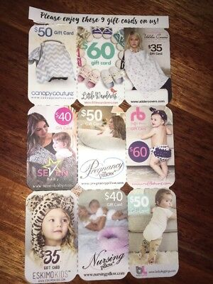 9 Coupons Gift Cards Nursing Udder Covers, Nursing Boppy Baby Pillow Sling Shoes