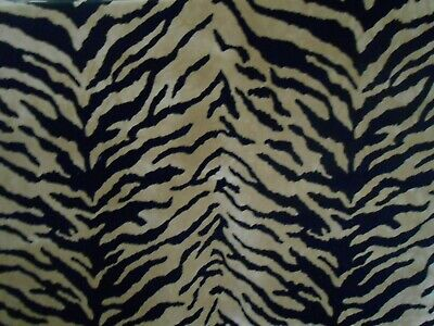 Tiger Velvet Upholstery Fabric  3.5+ yards  Great quality with Free Shipping