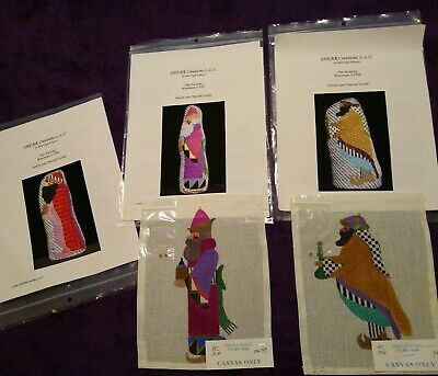 The Nativity 3) Wiseman -Mile High Princess- H/p Needlepoint- (2) Canvas +Guides