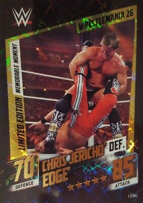 WWE SLAM ATTAX 2015 Then Now Forever LIMITED EDITION CARD Cris Jericho DEF Edge