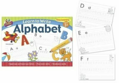 Kids Learn To Write Alphabet Handwriting Practice Letters Book A4 Pad Pre School