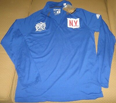 814bfd8334c New York Rangers Blue Adidas 2018 Winter Classic Ultimate 1 4 Ziptee Small  NWT