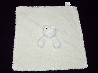 Pottery Barn Kids Frog Baby Thumbie Blanket Plush Security Lovey Green Chamois