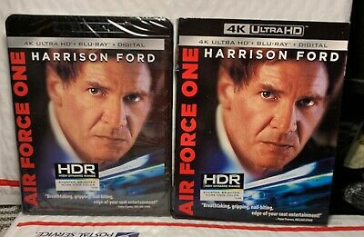 New Air Force One 4K Uhd+Blu-Ray+Digital Hd! Comes W-Slipcover! Factory Sealed