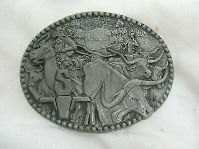 SHEPLERS Western Belt Buckle Cowboys & Longhorn Award Design Zee Series