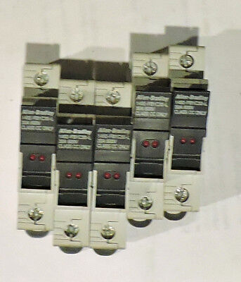 LOT OF 5 Allen-Bradley 1492-FB1C30-L Fuse Holder Series B 30A-600V