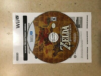 The Legend of Zelda - Breath Of The Wild - Wii U - DISC ONLY - FAST FREE SHIP