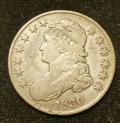 1830 Capped Bust Half - VF