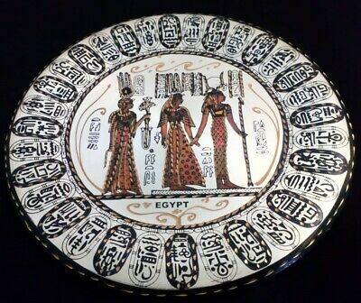 Handmade Pharaonic (Egyptian) Decorative Brass Plate Wall Hanging