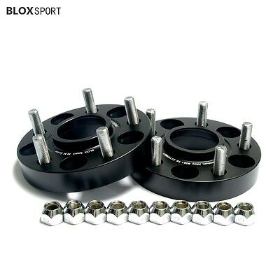 """2Pc 1 inch 5x4.5 1994-2018 Ford Mustang Wheel Spacers with Lugs 14x1.5 1/2""""-20"""