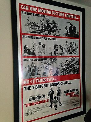 THUNDERBALL/YOU ONLY LIVE Twice Double Feature Original Movie Poster
