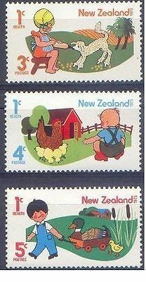 New Zealand 1975 HEALTH (Pets) (3) Unhinged Mint SG 1079-81