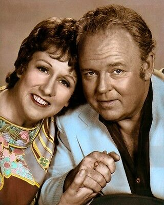 """JEAN STAPLETON CARROL O'CONNOR ALL in the FAMILY 8x10"""" HAND COLOR TINTED PHOTO"""