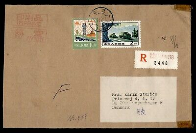 DR WHO 1981 CHINA PRC REGISTERED AIRMAIL TO DENMARK  d94346