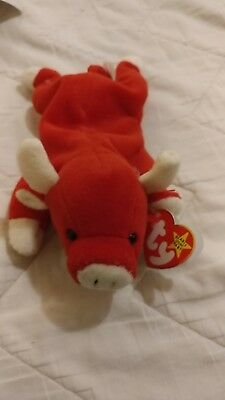 14ba9c5e337 Snort Beanie Baby Retired Style 4002 NEW Born 5-15-1995 Chicago Bulls NWT