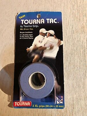 Tourna Tac Tennis Racquet Over Grip-3 XL BLUE  Overgrips-absorbent Tacky Feel