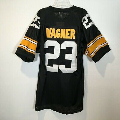 Mike Wagner Pittsburgh Steelers Size 52 Retro Throwback Jersey Stitched Sewn   23 4081968ce