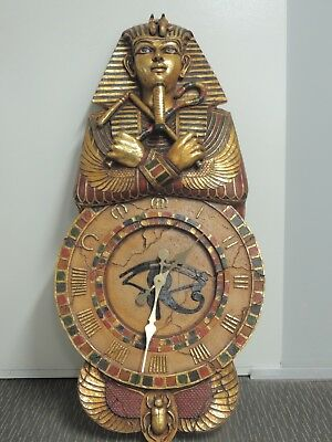 King Tutankhamun Egyptian Wall Clock Egyptian Statue Resin
