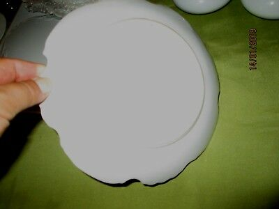 Porcelain/ Ceramic White Plaques-For Painting-Craft. Quality.fancy Round-19 & 21