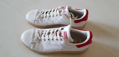 Adidas Stan Smith Special Edition Mit Rotem Fell Sneaker