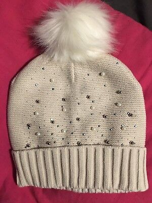 dc846f573c8 Ladies Teens Bnwt Oasis Pom Pom Bobble Winter Hat Pearl Jewel Bling One  Size £14