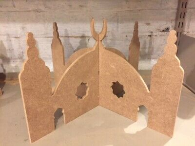 Wooden MDF 6mm 3D Peg Doll Mosques - Flat Slot together design - 3 Size options