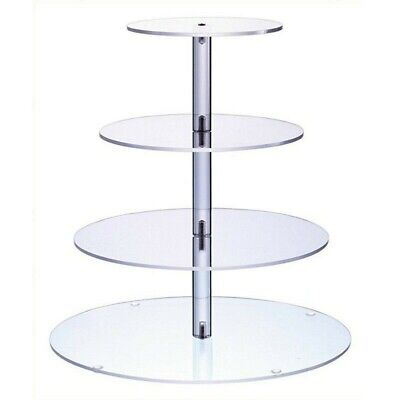 4Tier Acrylic CupCake Stand Display Cake stand Toppers Tower Shelf Wedding Party