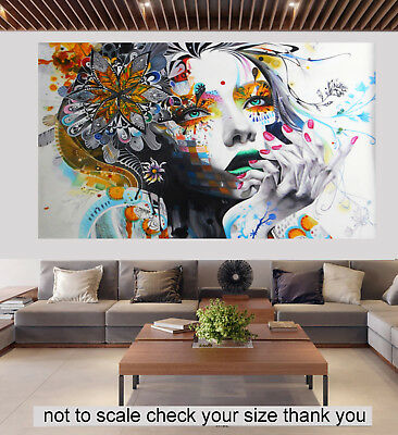 graffiti street art Urban Princess White modern canvas artwork print painting