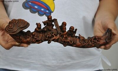Carved Figures Chinese Hand Carved Agarwood Lingzhi Ruyi Home Furnishings
