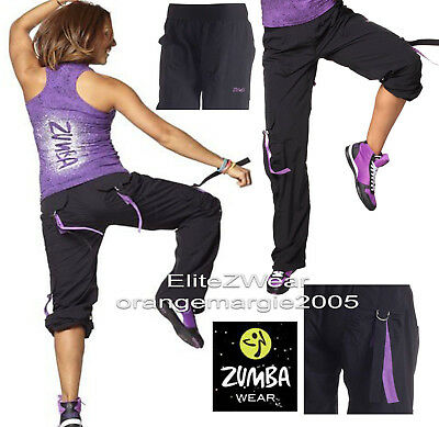 ZUMBA CARGO PANTS DANCE FITNESS Converts to Capri - Harrods   UK Convention  XXL 0d6ab3cf68c