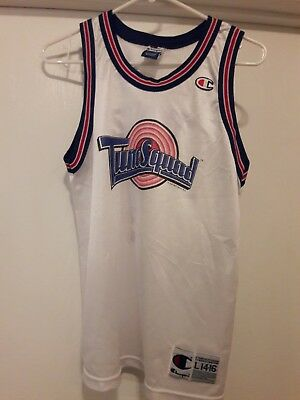 8da692586 TUNE SQUAD VTG 90s 1996 Champion TAZ Space Jam Jersey monstar Youth ...
