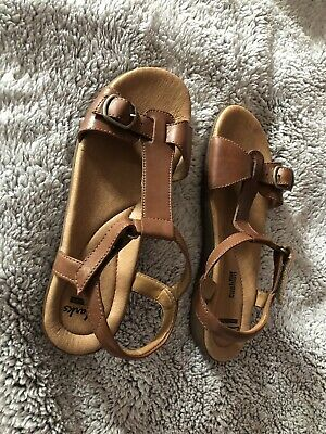 5b24191c6dcccd Clarks Brown Leather Open Toe Ankle Strap Dress Sandals Shoes Us Womens Sz  7.5M