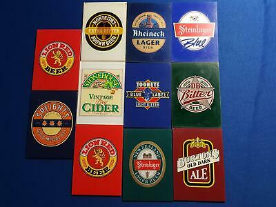 Beer Collectable Bar Tap Bar Decorative Plastic Signs x 11, Great For Light up