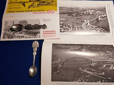 Australia Sydney Harbour Bridge 50th Anniversary 2 x Collectors Spoon Brochure
