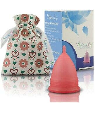 Athena Menstrual Cup - #1 Recommended Period Cup Includes Bonus Bag - Size 1,...