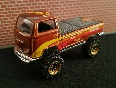 HOT WHEELS CUSTOMIZED VW Volkswagen T2 Pickup with Lifted Working Suspension