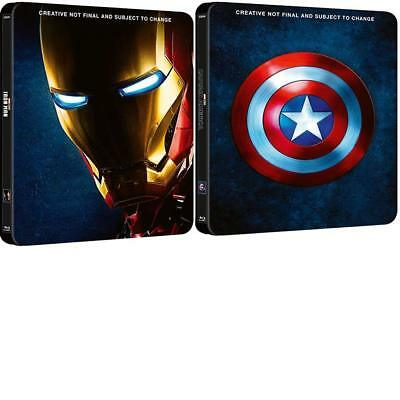 IRON MAN 1-3 & Captain America 1-3 : 2 limited edition Steelbook (Blu-ray) *NEW*