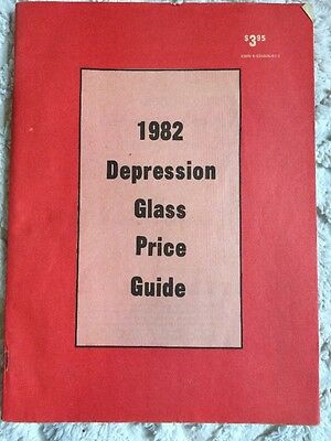 Vintage 1982 Depression Glass Price Guide