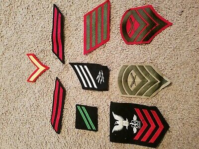 LOT OF 21 MILITARY patches Navy Air Force Marines Army old vintage