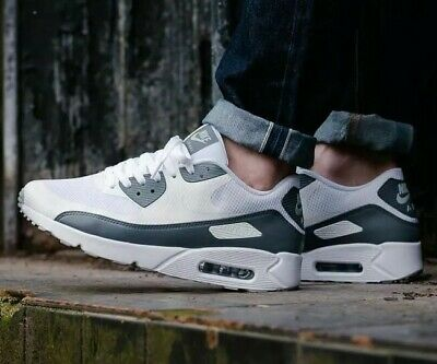 big sale 2ce00 503d9 NIKE AIR MAX 90 Ultra 2.0 Essential White Cool Grey 875695-102 Mens Sz 7.5