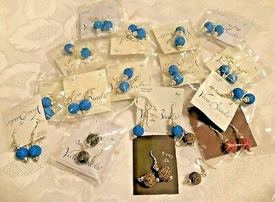 Joblot of 15+ Viva Beads Handmade Clay Nickel and Lead Free Earrings - Offers