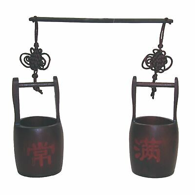 Chinese Bamboo Bucket Scales - Rustic and Decorative - 15cm