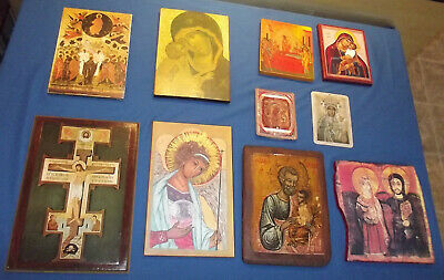 10 Orthodox Style Icon Reproductions Wholesale Lot Hand Painted St Michael More