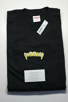 e5a5bdf7 Supreme Fronts Tee Black SS19 Medium New IN HAND BOX LOGO CDG TNF BAPE FTP  KITH