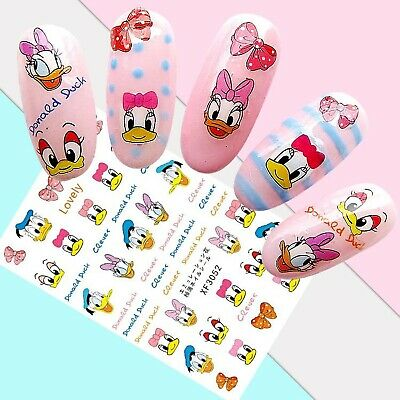 Nail Art Stickers Transfers 3D Self Adhesive Donald Daisy Duck (XF3052)