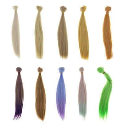 MagiDeal Fashion Doll DIY Hair Bulk Wigs For Doll Hairpiece Making Supplies