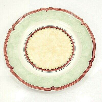 Villeroy Boch Jardin D'alsace Auberge Salad Plate 8 Inch Scalloped Green Trim