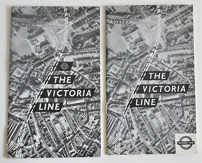 Lot of 2 Vintage 1960s Booklets London Underground The Victoria Line UK