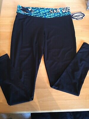 San Jose Sharks NHL Ladies Fold Over Leggings Size Large L -  NWT!